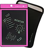 Boogie Board Original 8.5-Inch LCD eWriter Tablet, Pink & Boogie Board Sleeve, Black (JSG310001) Bundle