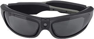 Topiky Gafas para cámaras Deportivas, Gafas de cámara HD 1080P 30FPS Impermeables al Aire Libre Grabación de Video Gafas de Sol Deportivas con Sensor CMOS de 2 megapíxeles, Negro(Negro)