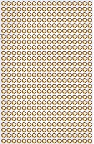 468 Strasssteine selbstklebend Glitzersteine zum Aufkleben rund Glitzer Aufkleber 5mm groß Kristalle Dekosteine Bastelsteine in champagner gold