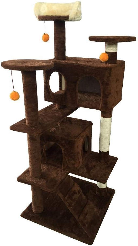 Hexiansheng Cat Climb Trees Pet cat Toy Furniture grab Board villa cat Nest bed House Ladder 50  50  132cm