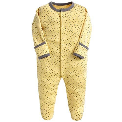 Bebé Niños Niñas Mono Mameluco de Manga Larga Body Algodón Peleles Comodo Pijama Regalo de Recien Nacido, Pack de 3, 0/3 Meses