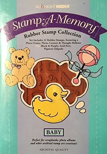 All Night Media Stamp-A-Memory - Baby Themed - Rubber Stamp Collection