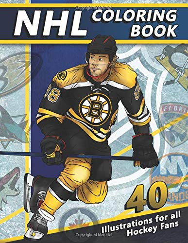 Download NHL Coloring Book: 40 Exclusive Artistic Illustrations of Famous League Players and Team Logos