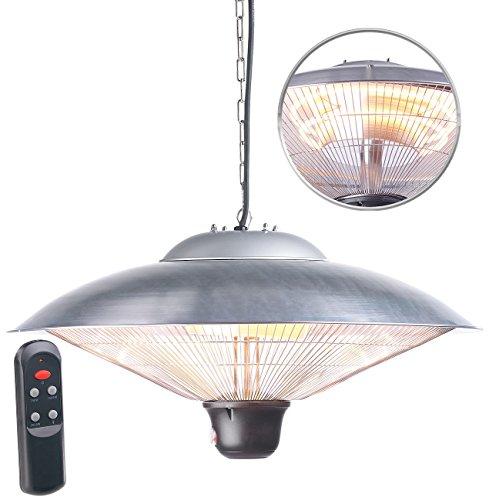 Semptec Urban Survival Technology Deckenheizstrahler: IR-Decken-Heizstrahler mit LED-Licht, Fernbedienung, bis 2.000 W, IP34 (Deckenheizstrahler mit Licht)