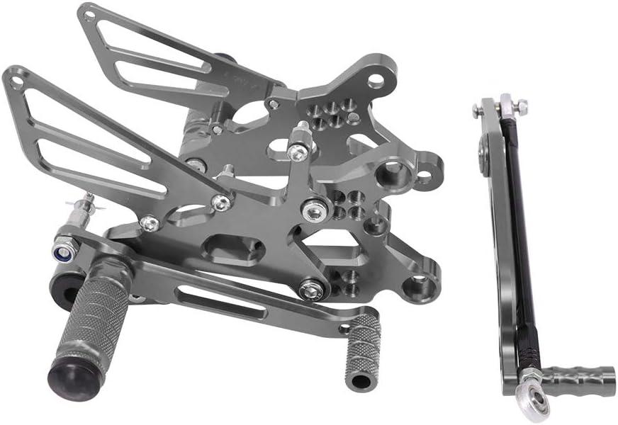 JFG RACING Moto Rearsets CNC Regolabile Posteriore Pedane Poggiapiedi Per Yamaha YZF R6 2006 2007 2008 2009 2010 2011 2012 2013 2014 Blu