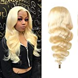"""Blonde Lace Front Wig Human Hair 20 inch 613 Blonde Human Hair Wigs 13x4x1 T Part Body Wave Wigs Blonde 613 Lace Front Wig Human Hair (20"""", 613 Blonde Lace Front Wig Human Hair)"""