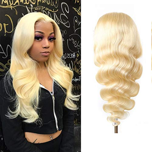 """Blonde Lace Front Wigs Human Hair 20 inch 613 Lace Front Wig Human Hair Colored Wig 13x4x1 T Part Body Wave Wigs Blonde Human Hair Wigs (20"""", 613 Blonde Wig Human Hair)"""