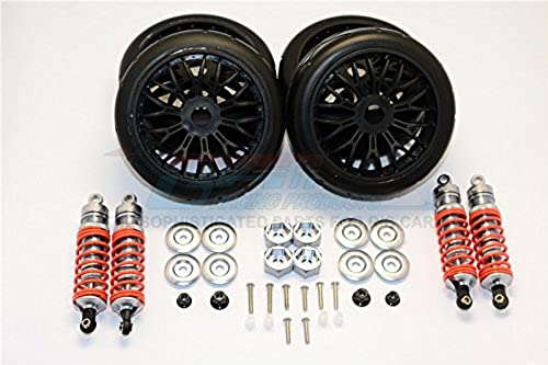 Traxxas Slash 4x4 & Slash 4x4 LCG Tuning Teile Aluminium Rally Racing Dampers And Tires - 4Pc Set grau Silver
