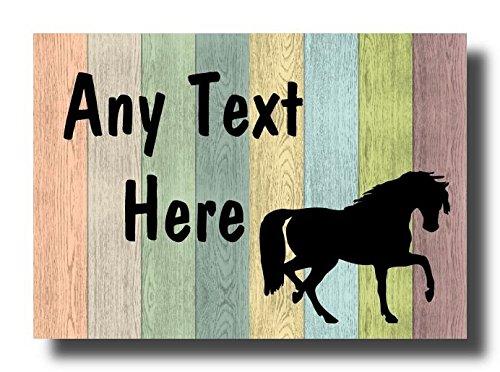 Pastel Hout Trotting Horse Gepersonaliseerde Jumbo Koelkast Magneet