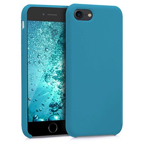 kwmobile Cover Compatibile con Apple iPhone 7/8 / SE (2020) - Custodia in Silicone TPU - Back Case Protezione Cellulare Petrolio