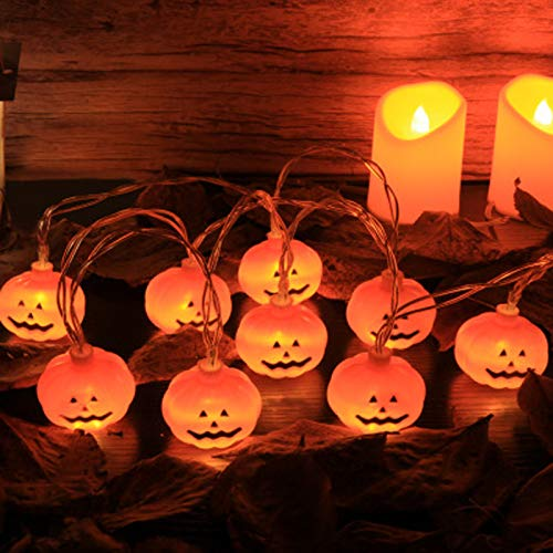 Halloween Kürbis Deko Licht, 3m 20 LED Halloween Lichterkette, Dekorativen Lichterketten, Battery-powered waterproof 3D Kürbislampen, Innen- Und Außendekoration Nachtlicht