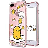 "Coralogo for iPhone 8 Plus/ 7 Plus TPU Case, 3D Cute Cartoon Funny Design Character Protective Chic Kawaii Fashion Fun Cool Cover Skin Teens Kids Girls Cases for iPhone 8 Plus/ 7 Plus 5.5"" (Lazy Egg"