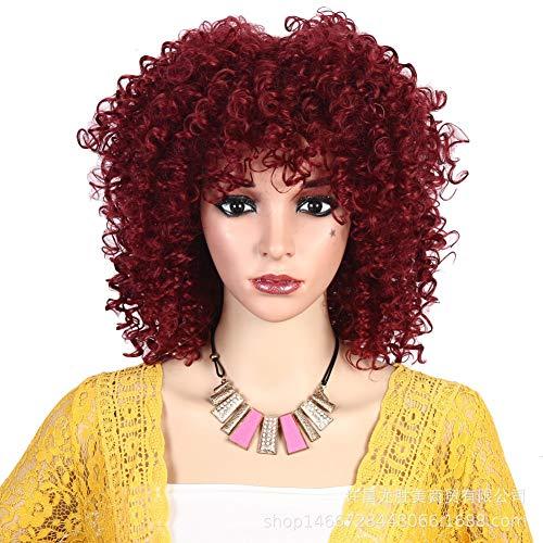 JAFA Synthétique Courte Afro Crépus Bouclés Perruques De Cheveux pour Les Femmes Résistance À La Chaleur Fiber Longueur D Épaule Afro-Américain Perruque pour Femmes Noires Style