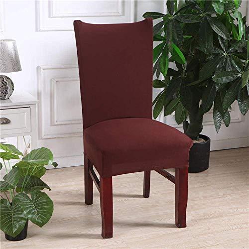 Stuhlbezug Brown Stretch Dining Chair Covers Stuhllehne mit hoher Rückenlehne Schutzhülle Schonbezug, abnehmbare Schonbezüge aus weichem Spandex-Esszimmerstuhl für Hotel-Esszimmerküche (6er