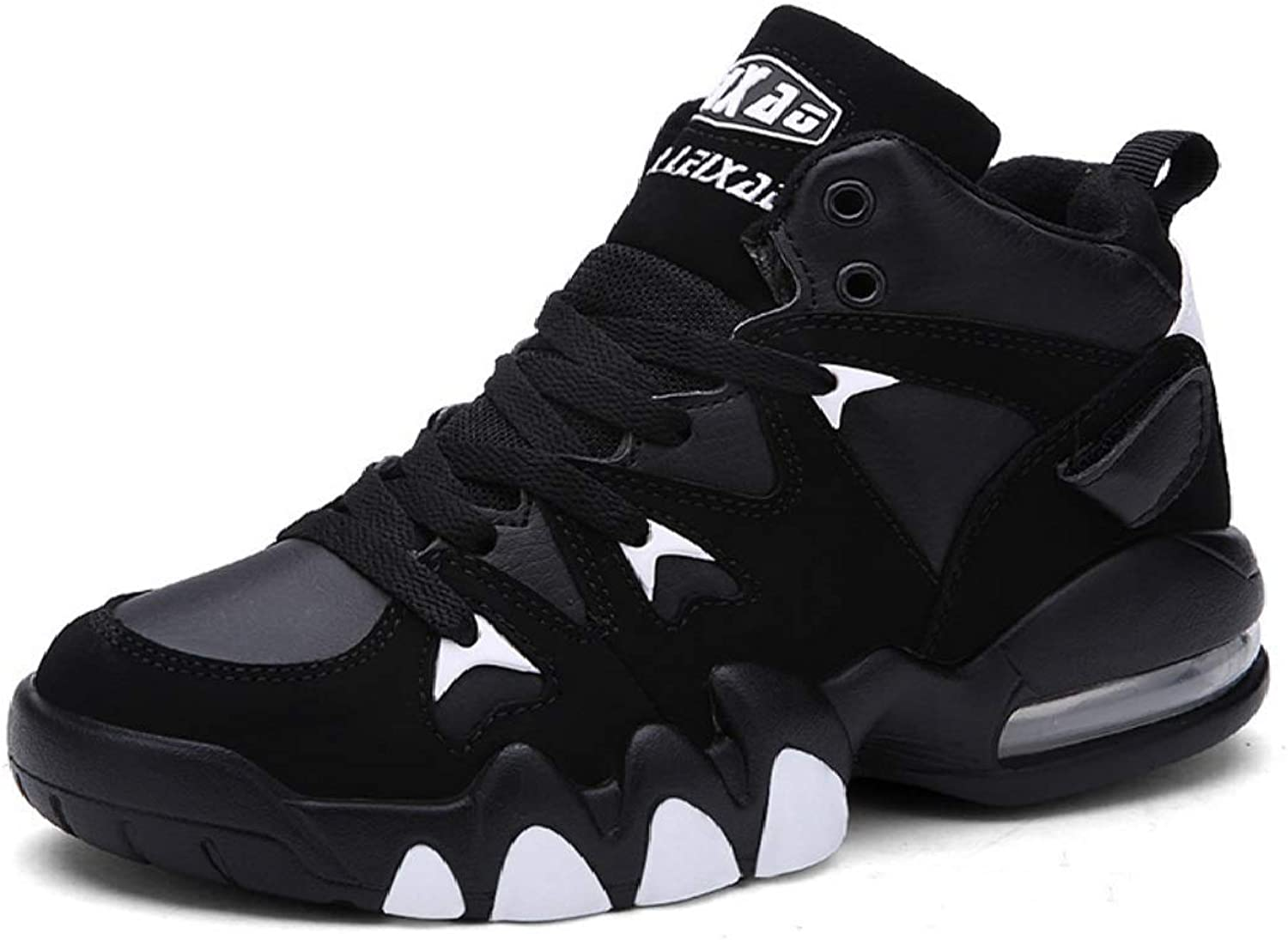 MON5F HOME Men's Anti-fall Basketball shoes Air Cushion Damping Men's And Women's Trend Warm And Cotton Breathable Couples Warm Snow Boots (color   Black plus velvet, Size   45)