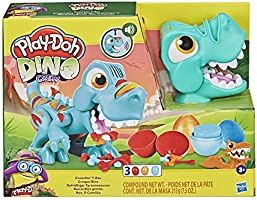 Play-Doh Dino Crew Crunchin' T-Rex Toy for Kids 3 Years and Up with Funny Dinosaur Sounds and 3 Eggs, 2.5 Ounces Each,...