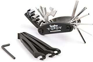 WOTOW 16 in 1 Multi-Function Bike Bicycle Cycling Mechanic Repair Tool Kit with 3 pcs Tire Pry...