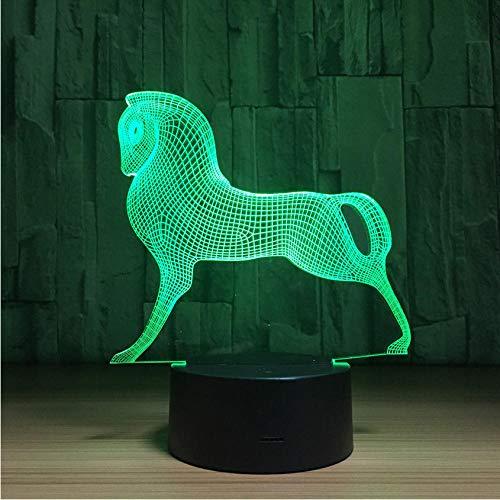 Ganjue Mignon Coloré Poney Cheval Jouets Mon Petit Poney 3D Illusion Nuit Lumière Acrylique Nuit Lampe Bébé Enfants Dormir Lampe