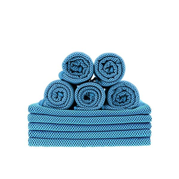 Tagefa 40″x 12″ Cooling Towel for Neck, Breathable Cool Workout Cold...