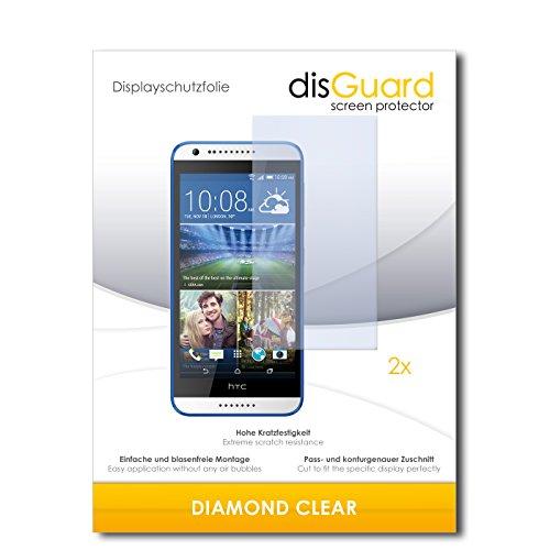 disGuard 2 x Bildschirmschutzfolie HTC Desire 620G Dual SIM Schutzfolie Folie DiamondClear unsichtbar