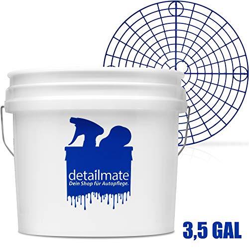 detailmate Set für die professionelle Auto Handwäsche: New detailmate Wash Bucket Wasch Eimer 3,5 Gallonen (ca.12,5 Liter) Made by GritGuard + Grit Guard Eimer Einsatz rot