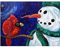 ジグソーパズル3000ピースパズル子供漫画ジグソーパズル教育玩具ギフト雪だるまと鳥
