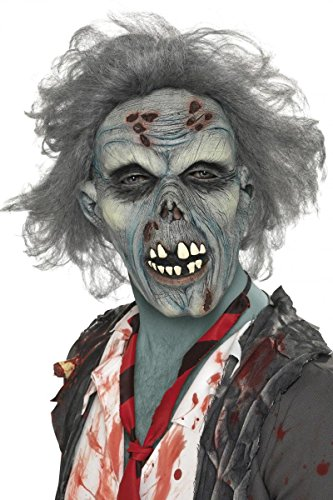 Masque de zombie avec cheveux