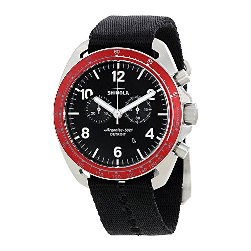 Shinola The Rambler Tachymerer Chrono Black Dial Mens Watch 12007928