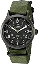 Timex Men's TW4B04700 Expedition Scout 40 Green Nylon Slip-Thru Strap Watch