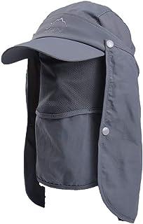 JSBelle Sombreros de Pesca de Sol, Gorra de Pesca de protección Solar al Aire Libre con Solapa de Cuello extraíble y másca...