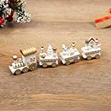 MXJFYY Decorazione del Treno di Natale Simpatici Mini Trenini in Legno Regalo per Bambini Ornamenti Natalizi per la Decorazione Domestica della Scuola Materna (#5)