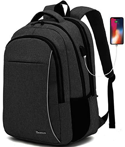 Rucksack Herren, Schulrucksack Jungen Teenager Laptop 17,3 Zoll, Laptoptasche mit USB-Ladeanschluss, Rucksack Schule für Reisen/Business/Universität/Frauen/Männer