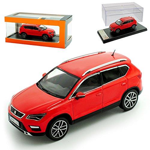 PremiumX Seat Ateca SUV Rot Ab 2016 1/43 Modell Auto mit individiuellem Wunschkennzeichen