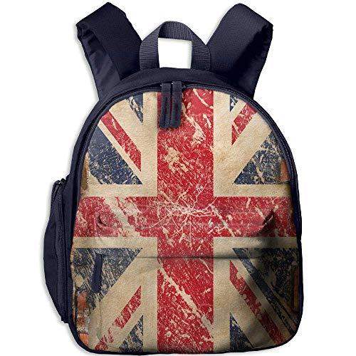Yuanmeiju Bandera británica Mochila Escolar para niños Mochila para Estudiantes de Viaje