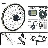 LiRongPing Bicicleta Kit de conversión de 48V 250W de la Rueda Trasera del Motor del Motor de Bicicleta eléctrica con LCD5 Mostrar Accesorios de Bicicleta eléctrica,20inch LCD Sets