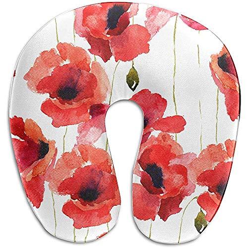 Warm-Breeze Almohadas Cojines Decorativos Color Rojo Sangre Flor Amapo