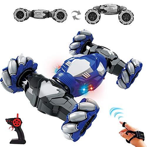 RC Truco Juguete Coche,2.4G Control Remoto Gesture Sensing Twisting Vehicle Drift Car,4WD Vehículo Todoterreno,Vehículo Todoterreno Giratorio de Doble Cara 360 ° Voltea ,Coches de Juguete Regalo