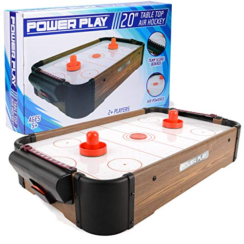 Power Play Table Top Air Hockey Game, 20 Inch