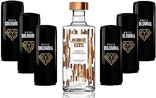 Absolut Elyx Vodka Wodka Set - Absolut Elyx 0,7L 42,3% Vol  White Colombia Classic Set - Erfrischungsgetränk - 6x 250ml inkl. Pfand EINWEG - Enthält Sulfite