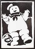 Póster Los Cazafantasmas Marshmallow Grafiti Ghostbusters Hecho a Mano - Handmade Street Art - Artwork