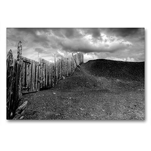 CALVENDO Premium Textil-Leinwand 90 x 60 cm Quer-Format Der Zaun, Leinwanddruck von Dirk Rosin