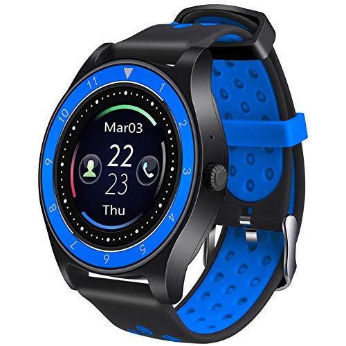KDSFJIKUYB Smartwatch R10 Smart Watch Herren Sport Armbanduhr Fitness Tracker Bluetooth Smartwatches Sitzende Erinnerung für Android IOS U8 V9, Schwarz Blau