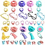 lps Pet Shop lps Accessories(11pcs), lps Skirt Clothes Collars Glasses Drinks fit lps Cats and Dogs Kids Gift