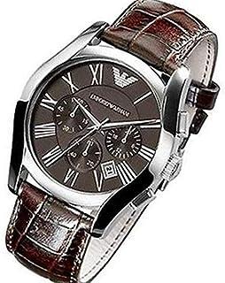 Emporio Armani Mens Quartz Watch, Chronograph Display and Leather Strap AR0672