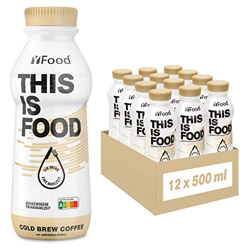YFood Kaffee | Laktose- und glutenfreier Nahrungsersatz | 34g Protein, 26 Vitamine und Mineralstoffe | Leckere Astronautennahrung - 25% des Kalorienbedarfs | Trinkmahlzeit, 12 x 500 ml (1 kcal/ml)