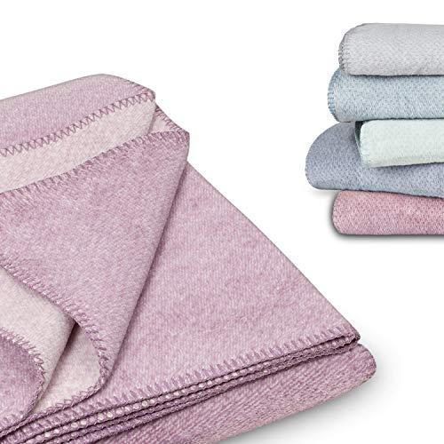 kids&me kuschelige Babydecke für Mädchen I Naturprodukt aus 100% Bio-Baumwolle (Farbe: zartes lila) - Made in Germany