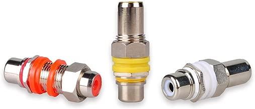 DCFun RCA Keystone Jack Inserts, RCA Female to Female Coupler Adapter - 6 Pack