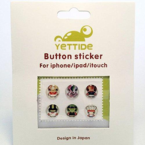 Caseink - Home Sticker Autocollant Bouton Home iPhone 3GS / 4 / 4S / 5 / 5S/C Design Manga