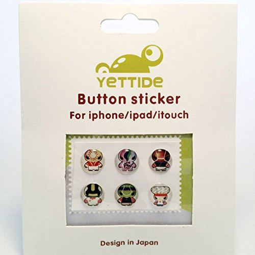 Caseink - Home Sticker Autocollant Bouton Home iPhone 3GS / 4 / 4S / 5 / 5S/C Design Manga