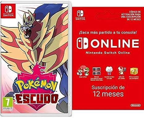 Pokemon Escudo Nintendo Switch Switch Online 12 Meses Codigo De Descarga Amazon Es Videojuegos